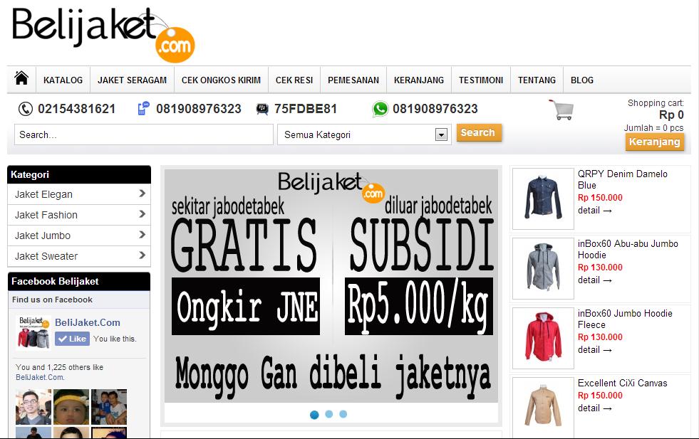 Belijaket.com, Toko Jaket Online