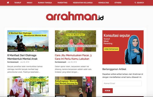 Arrahman.id - Membangun Keluarga Islami Indonesia