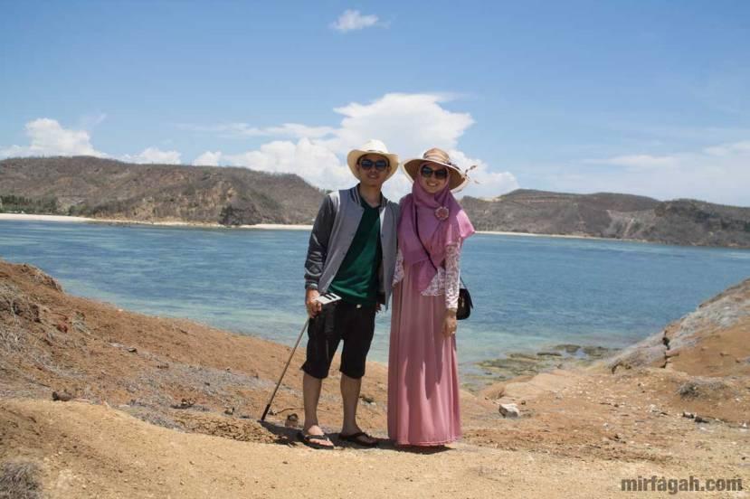 Saya dan istri ketika di Lombok