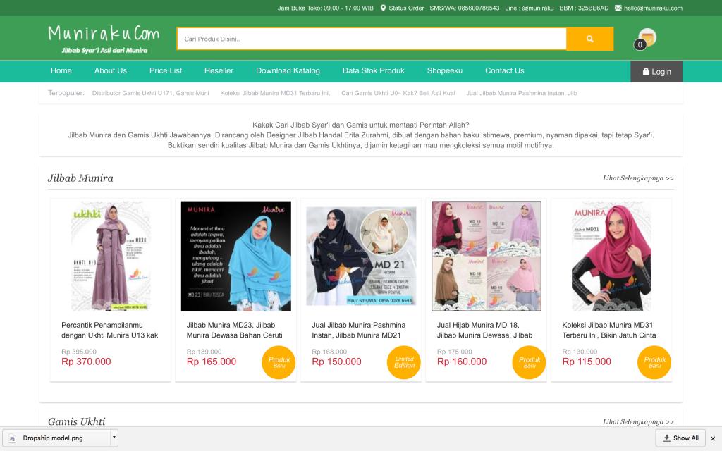 Contoh Distributor Jilbab Yang Mneawarkan Program Reseller